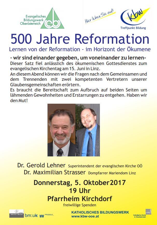 500 Jahre Reformation – Lernen von der Reformation – im Horizont der Ökumene