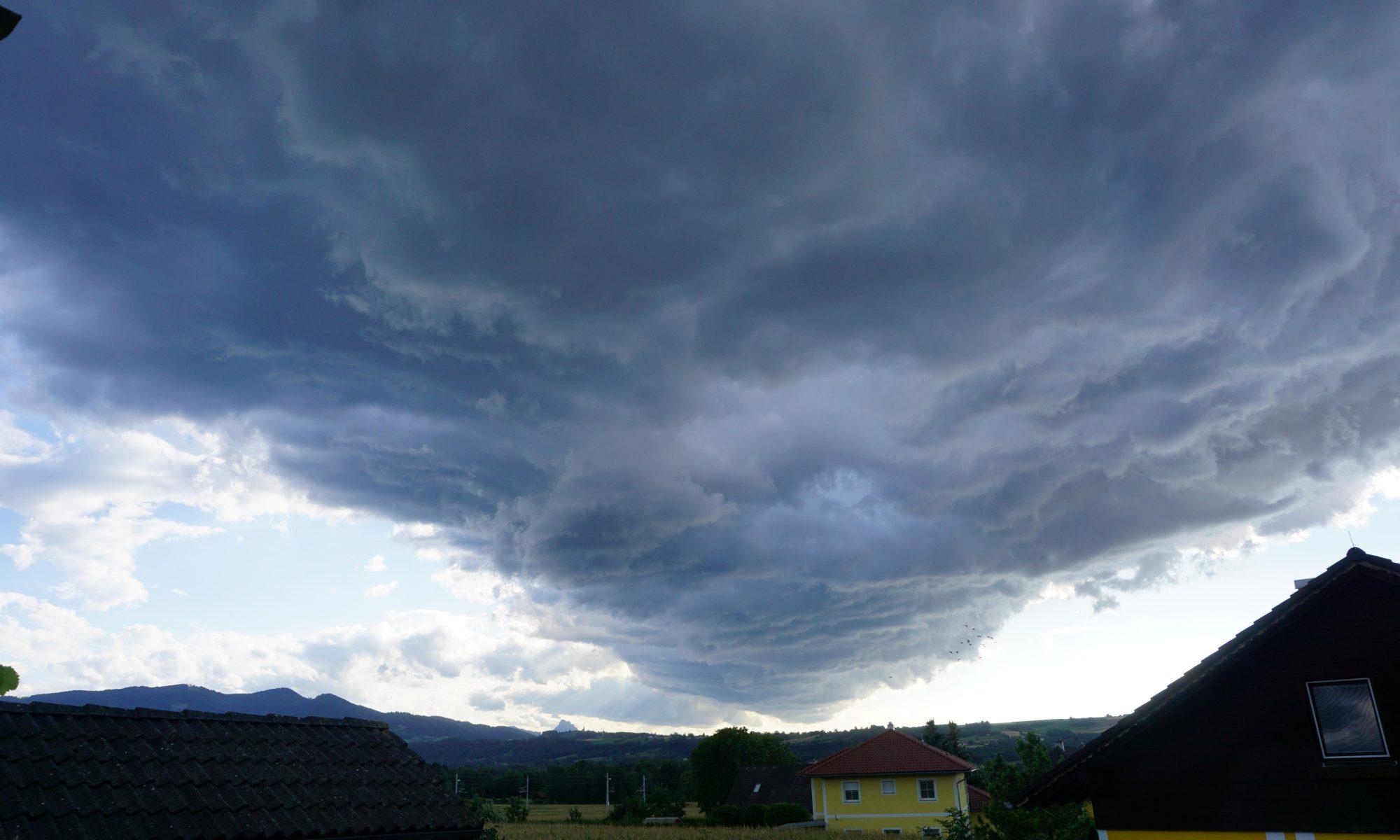 Wolken ziehen vorüber